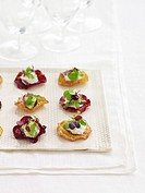 Small snacks with gourmet