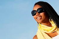 Young woman wearing sunglasses, Johannesburg, Gauteng, South Africa