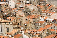 Dubrovnik,Croatia,old and new tiles,