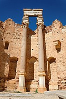 The north apse of the Basilica of Severus, Leptis Magna, Libya