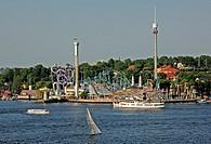 Sweden, Stockholm, Groan Lund, Tivoli amusement park ...