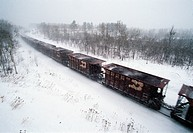 A train transporting coal to a power plant from a nearby mine.