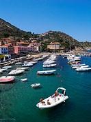 Italy, Tuscany, Giglio Island, Giglio Porto ...