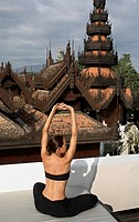 Yoga at the Dheva Spa at Mandarin Oriental Dhara Dhevi in Chiang Mai, Thailand                                                                        ...