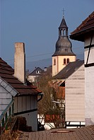Belltower in old German town