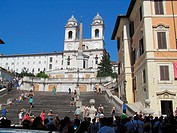 Spanish Steps and Trinità dei Monti church, Rome, Italy