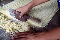 Pasta, noodles, hand made pasta, Tibet, Asia