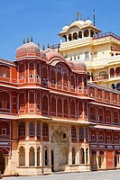 The royal residence at the City Palace, Jaipur, Rajasthan, India