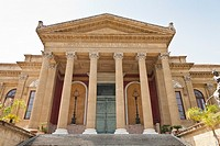 Palermo Opera House, Teatro Massimo, Piazza Giuseppe Verdi, Palermo, Sicily, Italy