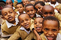 School kids at Addis Ababa, Ethiopia