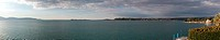 Panorama over Lake Garda