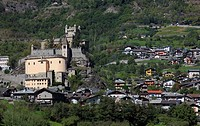 Italy, Aosta Valley, Saint Pierre, Castle.
