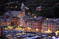 Italy, Liguria, Portofino, general view, harbour,