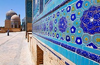 The Shah-i-Zindi, the avenue of mausoleums, Samarkand, Uzbekistan