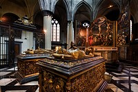 Tombs of Mary of Burgundy and Charles the Bold in the Church of Our Lady, Bruges, Belgium