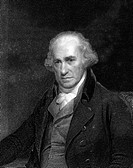 James Watt 1736_1819. Historical artwork of the Scottish engineer and inventor James Watt. Watt made numerous practical improvements to the steam engi...