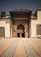 Entrance to the mausoleum of Moulay Ismail, Meknes, Morocco