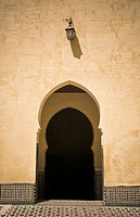 inside door of the mausoleum of Moulay Ismail, Meknes, Morocco