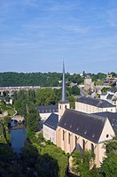 Neumunster Abbey, old town, Unesco World Heritage site, Luxembourg city, Luxembourg, europe.