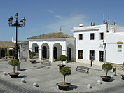 Medina Sidonia Cádiz Spain  Mayor Church Square in the historic town of Medina Sidonia