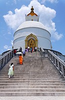 The World Peace Pagoda, Pokhara, Nepal