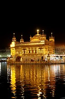 The Golden Temple at night, Amritsar, Punjab, India