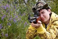 Hunter shooting up