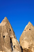 Troglodyte dwellings in Sword Valley, Gorome, Cappadocia, Turkey