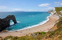 Durdle Door and Durdle Cove, Dorset, England