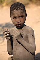 Portrait of Hadza boy, ethnic group living in the Lake Eyasi area, Tanzania