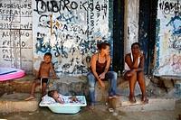People at Rocinha favela, Rio de Janeiro, Brazil