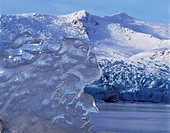 Close up of ice on Fellsjokull glacier
