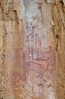 rock paintings in katherine gorge