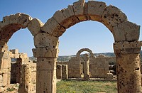 Arches of the Palace of the Governor, Apollonia, Cyrenaica, Libya