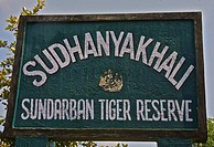 India, West Bengal, Sunderbans National Park, UNESCO World Heritage site and Biosphere Reserve.