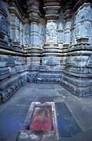 Foot print by the Main Sanctuary of the Chennakeshava Temple, Belur, Karnataka, India
