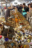 Market at Antibes, Cote d Azur. France.