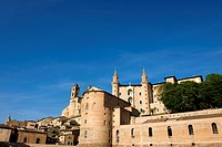 Italy, Marche region, cathedral and ducal palace