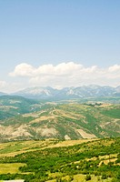 Mountain landscape in the bright summer day