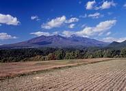 Yatsugatake Mountains and Field, Hokuto, Yamanashi, Japan