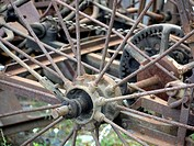 Wheel of an old agricultural machine