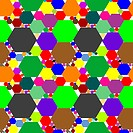 hexagon seamless pattern extended