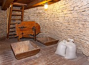 Windmill Interior With Stone Walls
