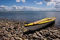Kayak at shoreline