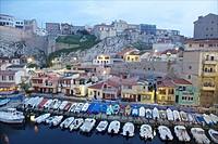 Hafen Vallo des Auffes, Marseille, Cote d Azur, France.