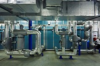 Plant room in a pharmacutical facility, Dublin, Co  Dublin, Ireland