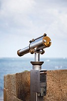 Telescope overlooking the sea at St Malo, Brittany, France