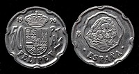 50 Pesetas coin, Spain, 1996