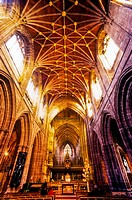 chester cathedral interior cheshire england uk