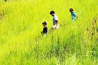 Bidayu Kid in Kidding Village Borneo Highland, Kuching, Sarawak, Borneo, Malaysia